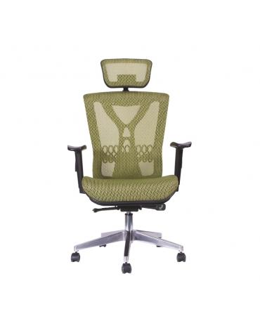 Sillón ejecutivo tapizado en malla flex con base de aluminiomodelo BM 9550 AL
