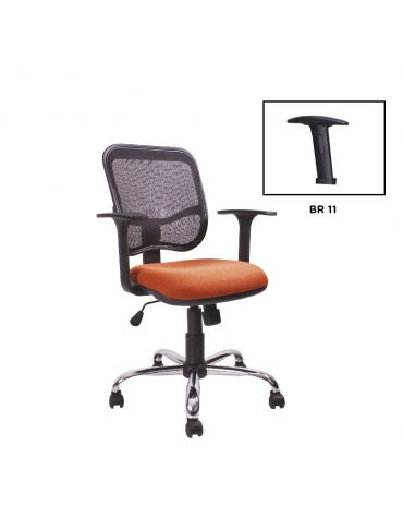 Silla secretarial con respaldo de malla modelo BM 7010 C